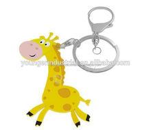 silicone key chain / keyring | promotional key ring