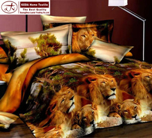 alibaba china animal pattern comforter sets queen size lion printed 3d bedding sets