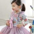 nueva llegada de la princesa europea baratos niña vestido de flores