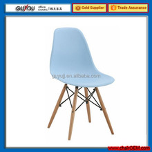 New Design Plastic Dining Chair With Wooden Legs(GY-615B)