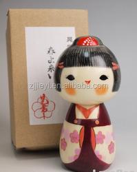 decorative fashion wooden handmade japan kokeshi doll