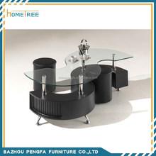 modern s shape glass coffee table