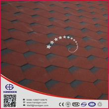 Hot Selling red Asphalt Shingles for Roofing with 12 colors and 5 types and customized