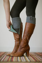 Knitted Boot Cuffs Faux Leg Warmers Wooden Buttons Boot Toppers