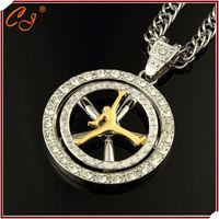 Jordan Basketball Star Vintage 18K Golden Yellow Necklace