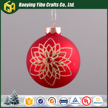 Fashionable patterns christmas ball ornament caps wholesale glass