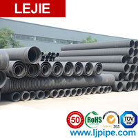 900mm Customized Black Hdpe Sewage pipe standard length