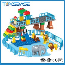Niños barato cube animial square plastic building blocks juguetes