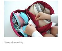 Personal travel storage bag, female personal private travel storage bag, under wear bra bag