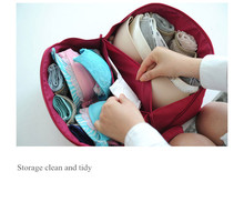 Personal travel storage bag, female personal private travel storage bag, under wear bra bag