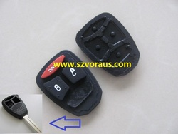 Chry 2+1 button rubber replacement for remote key