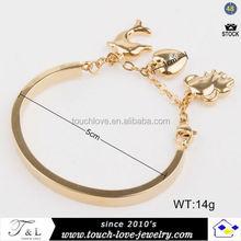 fine stainless steel jewelry elephant hair bracelet