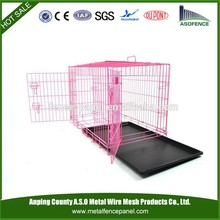 alibaba china manufacture hot sale wire dog kennels for flamingo blac , cheap dog crate , aluminum dog crate(for Europe market)
