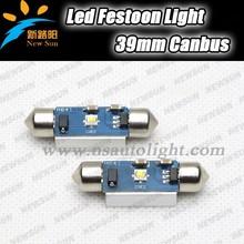 2x White super bright C ree chips 39mm Festoon LED Bulbs Interior Map Dome Lights E8