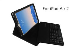 Flip Leather Case for Ipad Air 2 Bluetooth Keyboard Case For Ipad 6, Removable Wirless Keyboard