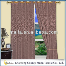 New Fashion Product Top Class Decorative blackout fabric flock curtain