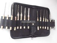 Top Rate Quick Door Opening Lock Picking Tools With Full Set (16+3=19 PCS) for Locksmith Lock Pick Tool