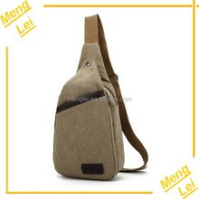 Factory wholesale fashion leisure mens canvas single shoulder bag