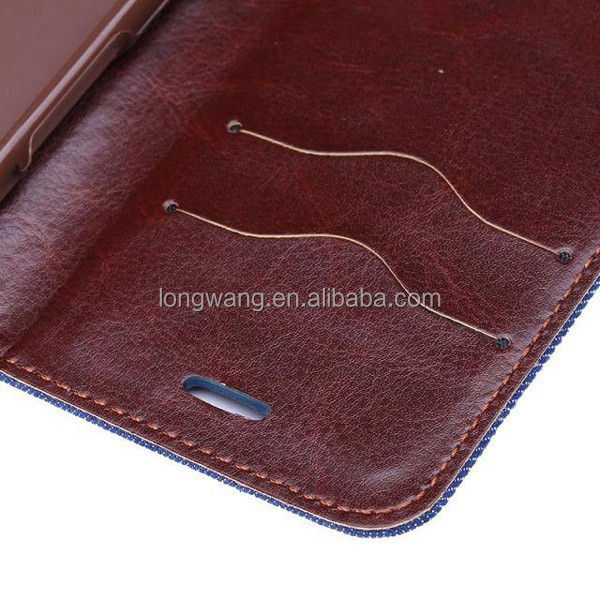 Luxury denim Wallet Stand Card slot flip Leather Case for iphone6