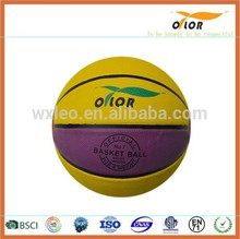 official size and weight 12 pannels Size 7 PVC laminated basketballs