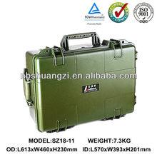 military plastic hard shell laptop flight case