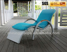 C328 Popular PE Rattan People Lounger/ Special beach chair with famous trademark