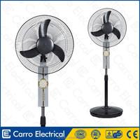 Modern design 12V solar rechargeable fan stand solar chargeable fan with rechargeable batteries