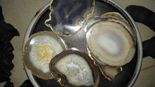 Factory Wholesale luxury natural agate slices geode polished