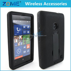 New Products For Nokia 520 With Vertical Stand Hybrid Pc+Silicone Dual Layers Armor Cell Phone Cover Cases