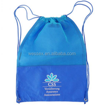 Nylon Mesh Backpack Polyester Backpack Foldable Drawstring Bag