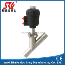 2 -way Welded pneumatic operated angle seat valve from china manufacture