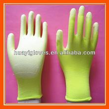 la palma de la pu guantes recubiertos de trabajo
