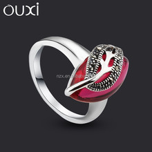 OUXI New arrival hot sale women ring stone model with purple stone
