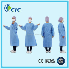 sms non woven surgical gown , patient cloth , patient gown