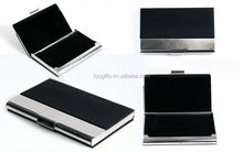Promotional Magnetic leather business pu card case