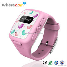 GPS tracking by phone number smart watch SOS for kids (mobile watch phone ) fashion kids wristband watch