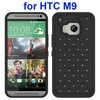 Hot selling Diamond Studded Silicone Hybrid Protective girl bling fashion case for HTC One M9