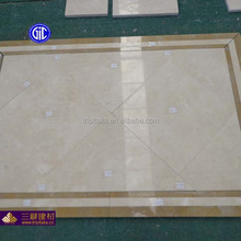 Spanish Beige Color Polished Crema Marfil Floor Tile Marble