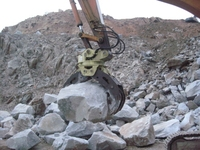 360 degree rotatable rock stone gripper for excavator