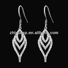 China Jewelry Supplier Silver and Zircon Pair Pendant for Lovers