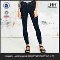 Zip a un lado la moda flaco slim fit jeans para mujeres