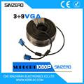 Rgb cable vga/vga coaxial cable convertidor xzrv006/scart cable vag