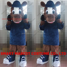 Good ventilation soft plush hand made horse mascot for advertising adult horse mascot