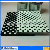 Smart Cover Slim Magnetic PU Leather Case Wake/ Sleep Stand Black Dot for ipad 2 /3