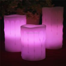 Citronella vela y de la batería operado sin llama cambio de color toma cera de la vela de cera