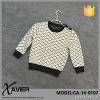 BRAND FACTORY kids trendy clothing jacquard sweater argyle knitting pattern children knitted pullover sweater