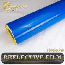 Car Decal On Board 1*50m Motorcyvle Bike Blue Reflective PVC Printing Film