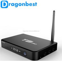 Android tv box octa core GPU T8 pro smart tv box With Dual-band 2.4G/5G WiFi Bluetooth 4.0