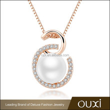 2015 OUXI factory price Portuguese fashion jewelry made with pearl