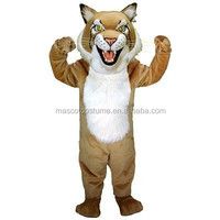 Cosplay cartoon mascot costume figure of Bobcat brown lynx adults under customization